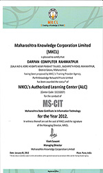 Certificate of MKCL 2012